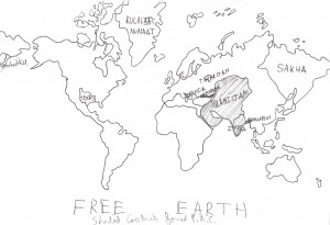 The nations that made up the Free Earth organization.