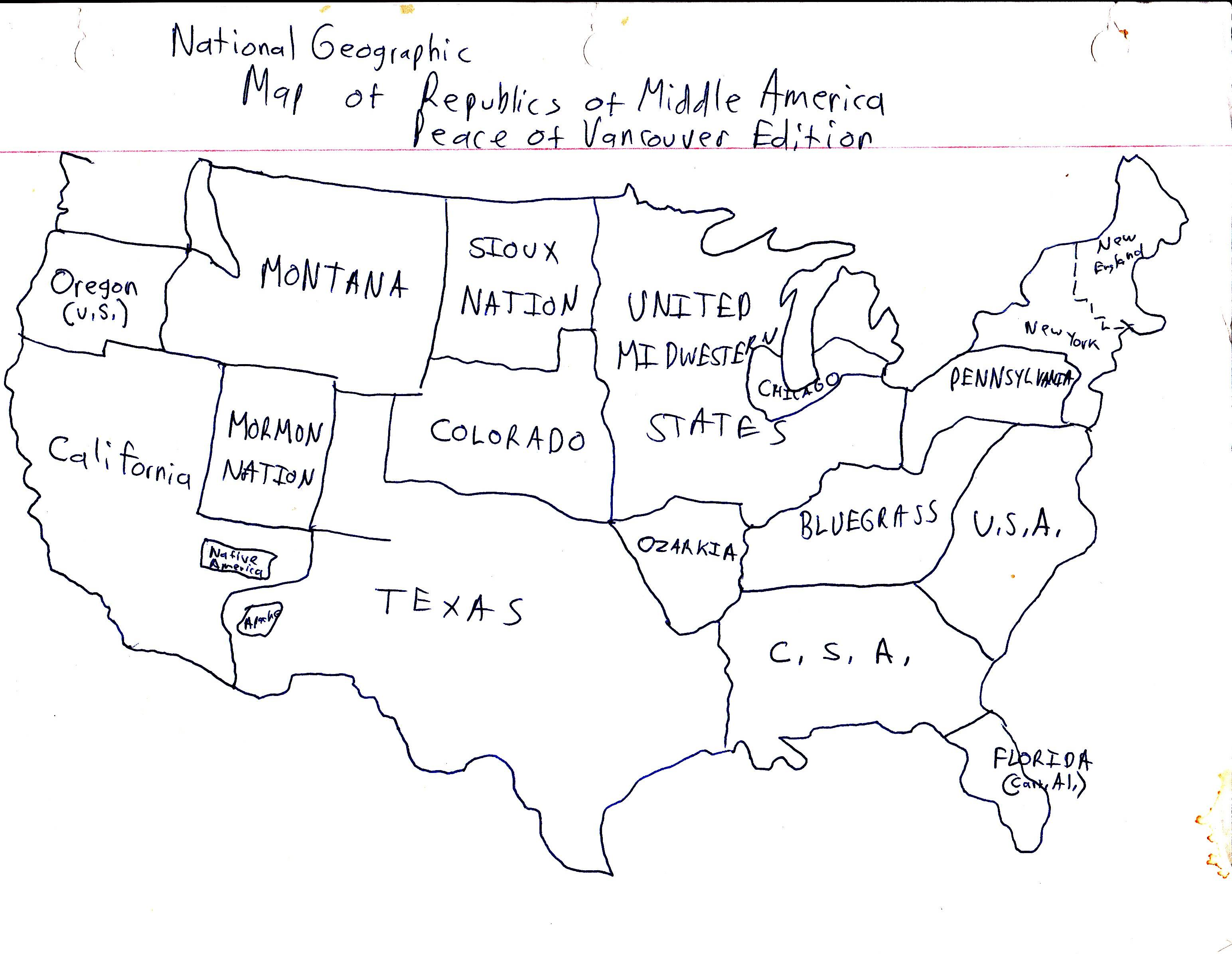 Boiling Point By Tom Merritt Blog Archive Map Of The Hand Drawn Us Map
