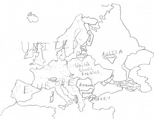 A map of Europe pre-UE