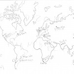 A rough map of the Earth at the end of redevelopment.