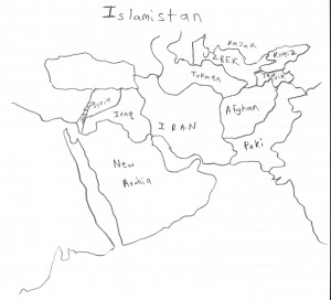 Map of the nations of Islamistan at the founding of Free Earth.