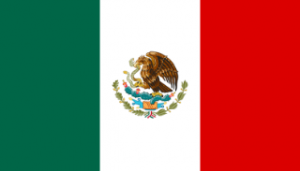 Teh flag of the United Mexican States as of the Peace of Houston