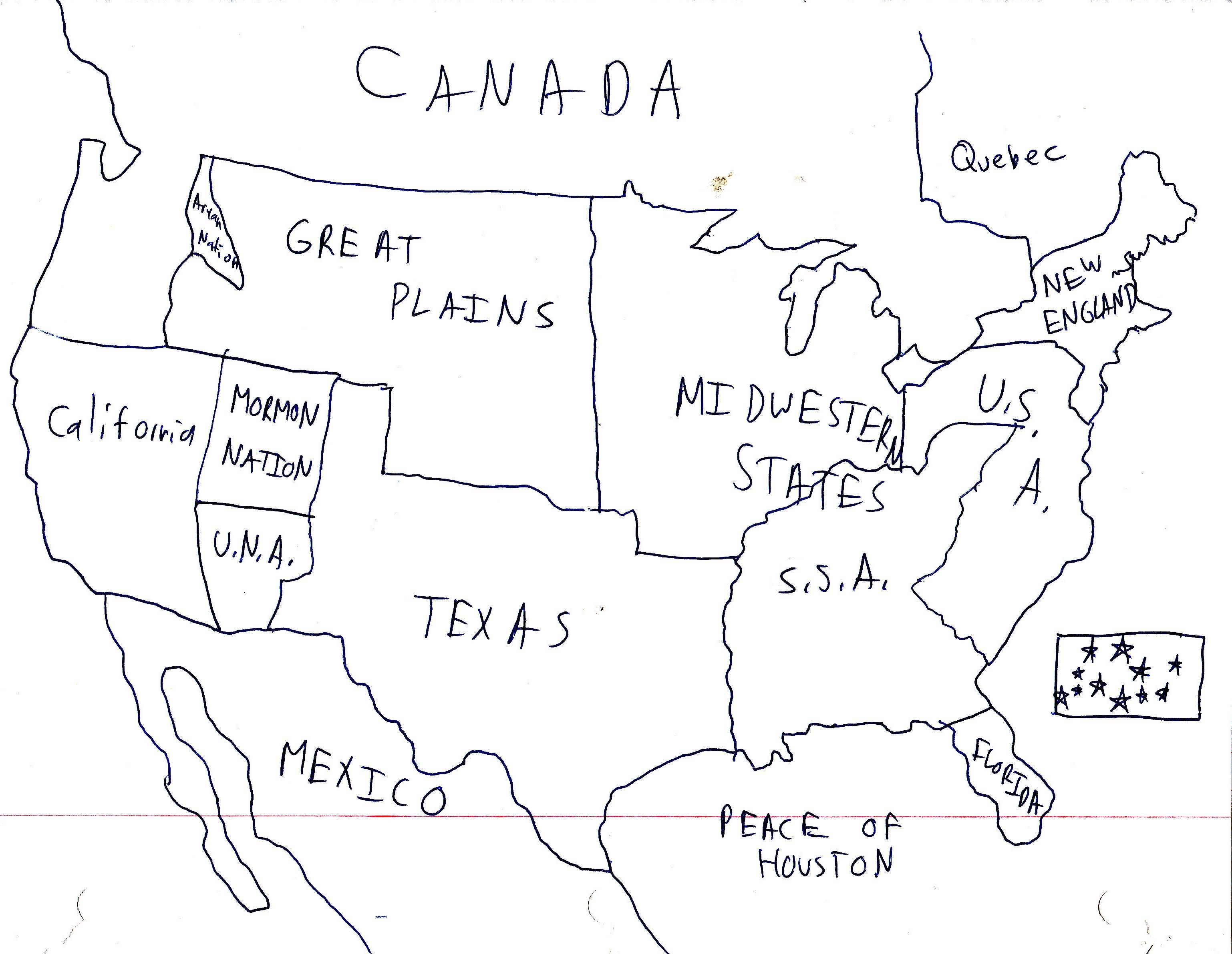 If Every US State Had The Same Population What Would The Map Of - Us breakup map