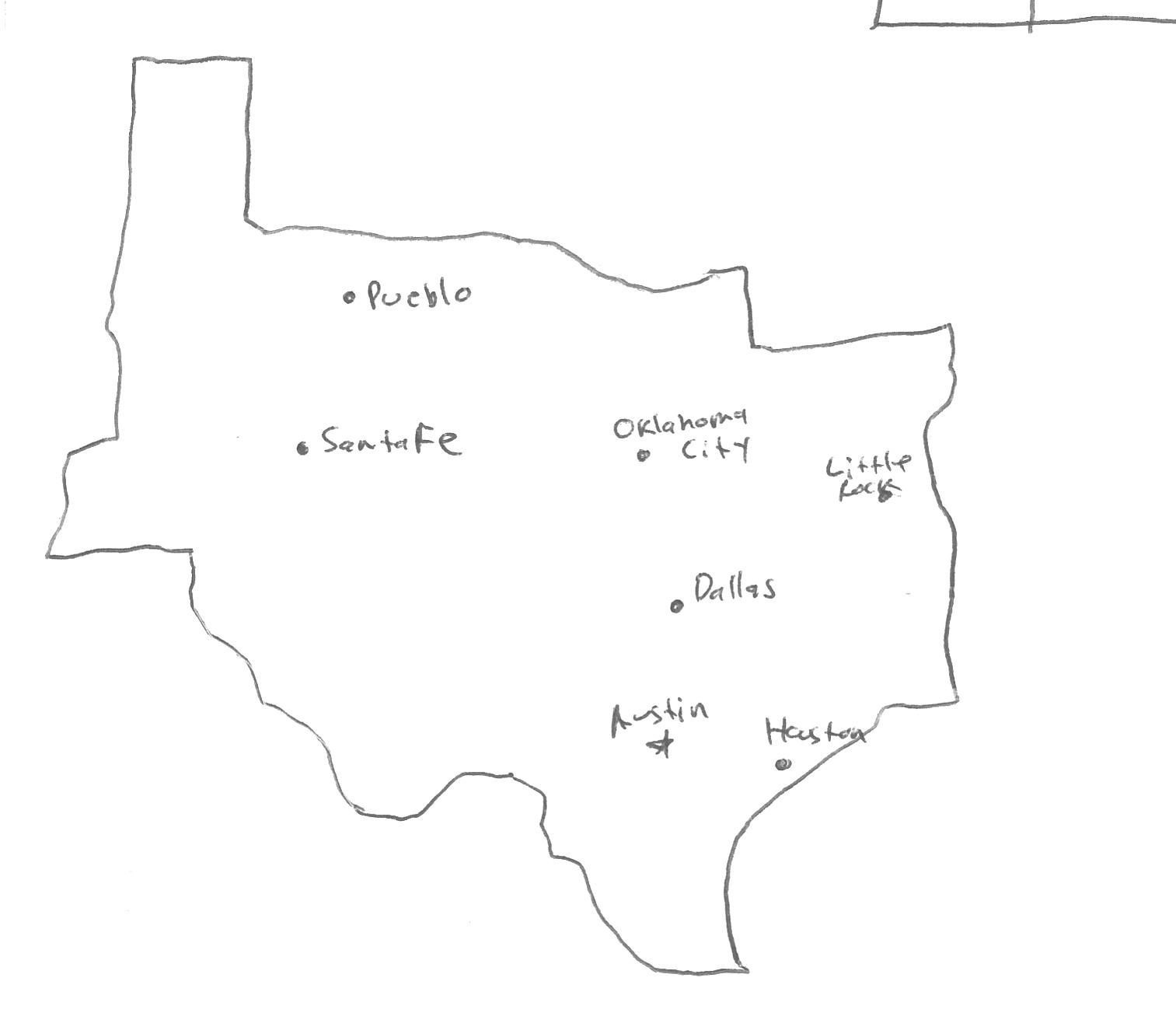 Texas Capital Map