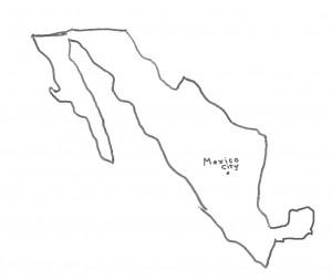 Map of Mexico at the time of the Peace of Houston